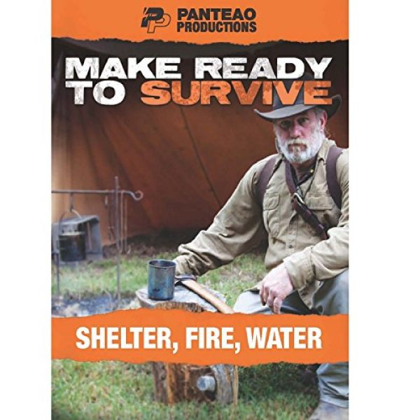Panteao Productions Survival Kit 1 Panteao Productions: Make Ready to Survive: Shelter, Fire, Water - PMRS09 - Survival Training - Survivalist - Survival kit - Prepping -Bugging Out - Shelter - Fire - Water - DVD