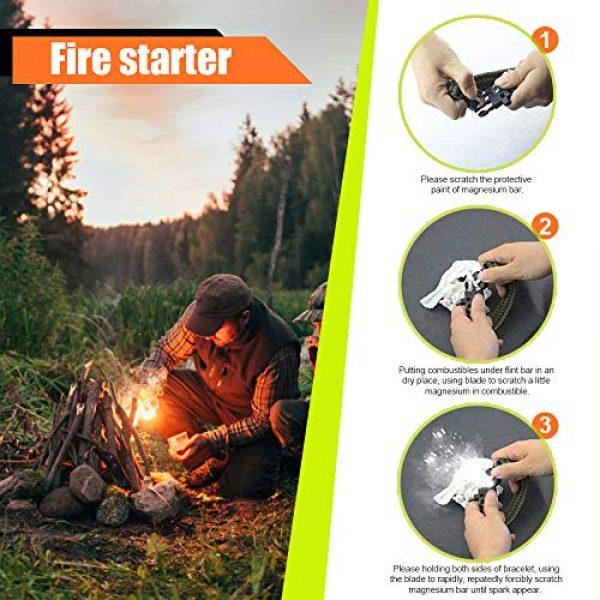 HNYYZL Survival Bracelet 5 HNYYZL 3 Pack Paracord Bracelet Survival- Adjustable Size, Compass, Fire Starter, Whistle and Emergency Knife, for survivalists, Hikers, Climbers, Campers(Black, Blue, Brown)