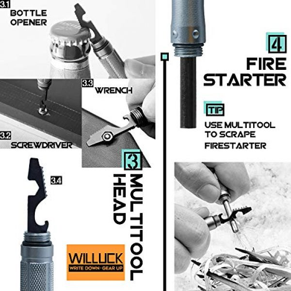 WILLUCK Survival Kit 4 Gifts for Dad Men Husband,Tactical Pen (8-in-1),Cool Anniversary Birthday Gifts for Boyfriend Him,Gift Box