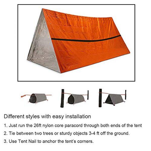 Funlove Survival Kit 7 Funlove 2 Person Survival Emergency Tent- Use As Survival Tube Tent, Emergency Shelter, Survival Sleeping Bag, Survival Tarp