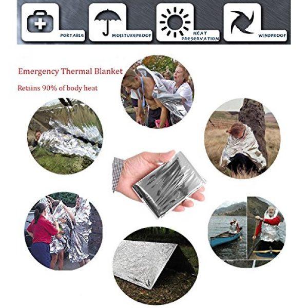 XUANLAN Survival Kit 5 XUANLAN Emergency Survival Kit 13 in 1, Outdoor Survival Gear Tool with Survival Bracelet, Fire Starter, Whistle, Wood Cutter, Water Bottle Clip, Tactical Pen (Survival Kit 2)