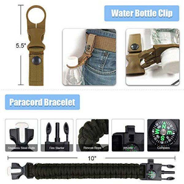 FUNANASUN Survival Kit 4 FUNANASUN Emergency Survival Kit, Outdoor Survival Gear Tool Pouch Holster with Fire Starter, Survival Bracelet, Emergency Blanket, Tactical Pen, Water Bottle Clip for Adventure, Camping