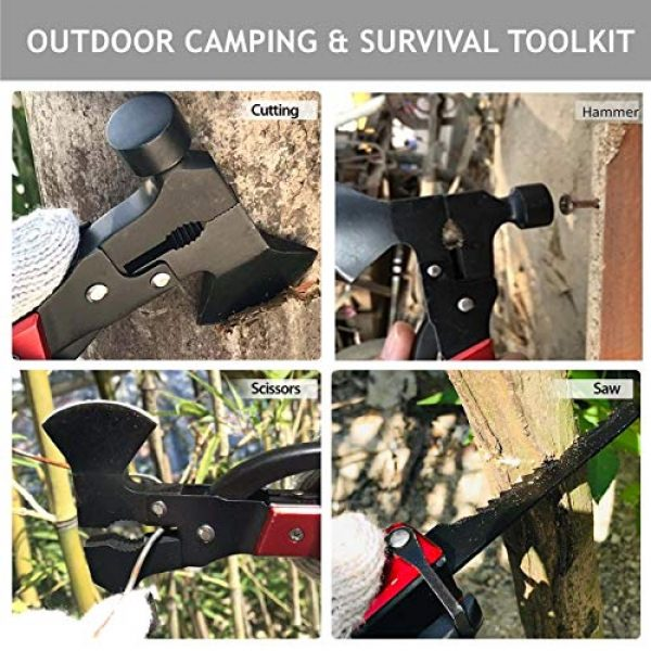 QuntionSt Survival Tool 5 Gifts for Dad Men Teens Fathers Day,Multitool Camping Gear Kits, 16 in 1 Survival Gear With 18 in 1 Multi Tool Card, Multipurpose Emergency Hatchet, Survival Kits for Outdoor Travel Hiking Household