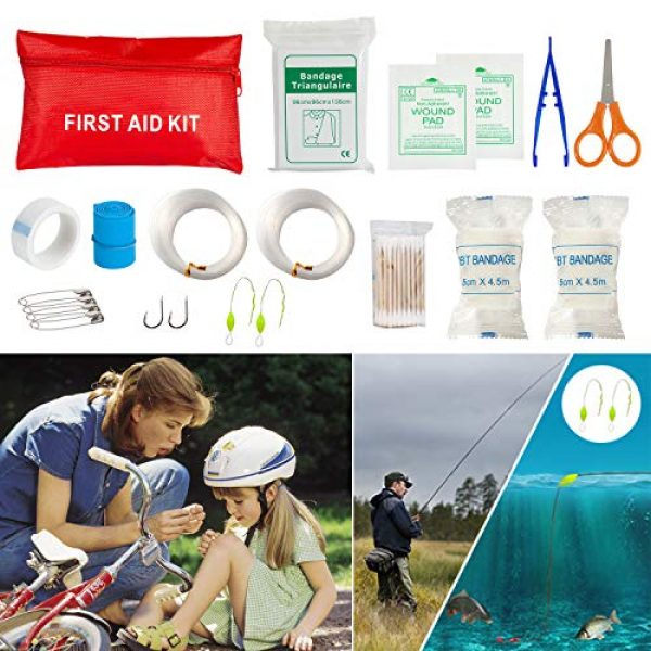 CHAREADA Survival Kit 5 Emergency Survival Kit 37 in 1, Survival Gear Tool Kit SOS Survival Tool Emergency Blanket Tactical Pen Flashlight Pliers Wire Saw for Wilderness Camping Hiking First Aid Survival Kit for Earthquake