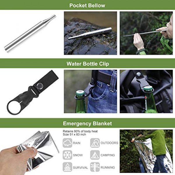 Verifygear Survival Kit 6 Verifygear Survival Kit, 17 in 1 Professional Survival Gear Tool Emergency Tactical First Aid Equipment Supplies Kits for Men Women Families Hiking Camping Adventures
