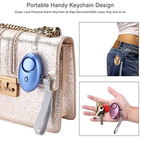 MaStrap Survival Alarm 6 MaStrap 140db Personal Safe Sound Alarms Emergency Safety Security Alarm Keychain for Women Child Elder 5 Pack