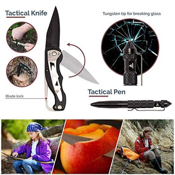 Just Guarded Survival Kit 6 Emergency Survival Kit - Outdoor Survival Gear Tool - Tactical Kit