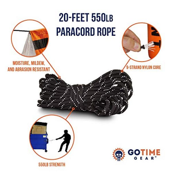 Go Time Gear Survival Kit 4 Go Time Gear Life Tent Emergency Survival Shelter - 2 Person Emergency Tent - Use As Survival Tent, Emergency Shelter, Tube Tent, Survival Tarp - Includes Survival Whistle & Paracord