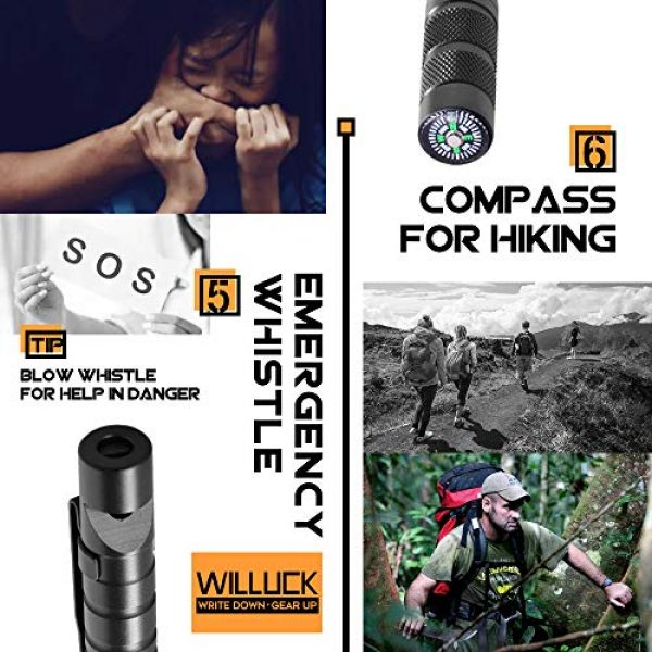misuki Survival Pen 5 Gifts for Men Dad,Tactical Pen (8-in-1),Cool & Unique Anniversary Birthday Gifts for Boyfriend Him Husband Dad,Fun Gadget Mens Gifts Ideas,Emergency Tool Survival Gear Kit,Gift Box