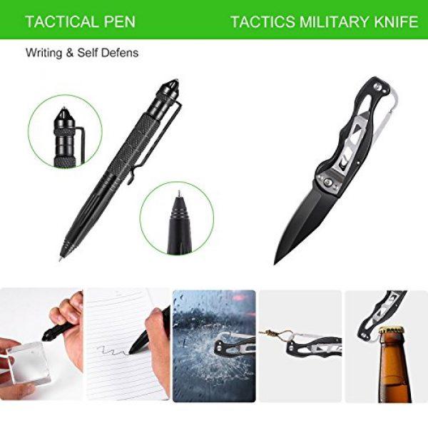 XUANLAN Survival Kit 4 XUANLAN Emergency Survival Kit 13 in 1, Outdoor Survival Gear Tool with Survival Bracelet, Fire Starter, Whistle, Wood Cutter, Water Bottle Clip, Tactical Pen (Survival Kit 2)