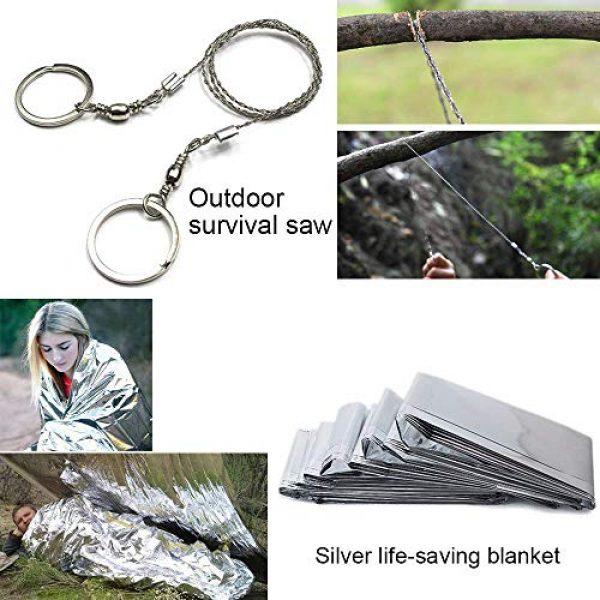 Lanqi Survival Kit 3 Lanqi Gifts for Men, Emergency Survival kit 14 in 1, Survival Gear, Tactical Survival Tool for Cars, Camping, Hiking, Hunting, Fishing (Survival kit 1)