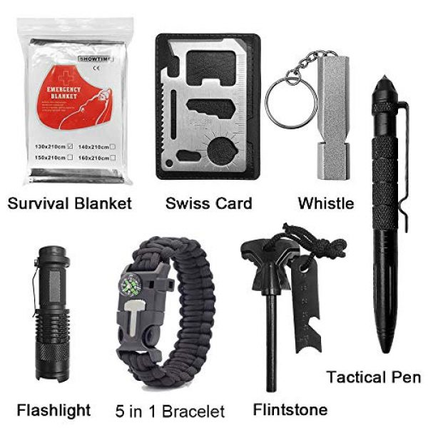 PioneerHiker Survival Kit 2 Multitool Gifts for Men - Outdoor Multifunction Survival Kit Hunter Hiker Fathers Day Graduation Birthday Present Him Son Dad