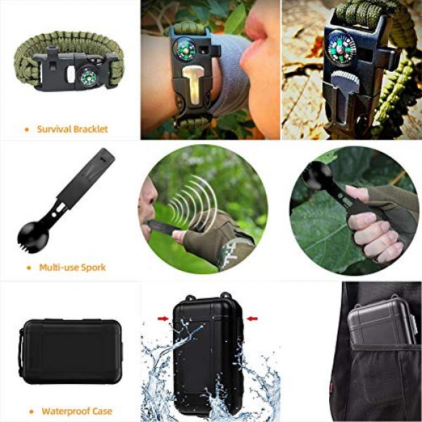 Welltop Survival Kit 6 Welltop 12 in 1 Outdoor Survival Kits Fishing Hunting Gear Hiking Camping Equipment Outdoor Adventure Gifts Ideas EDC Emergency Tools Cool & Unique Gadgets Gifts for Men Dad Husband Boyfriend