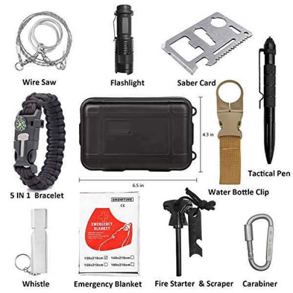Jokmae Survival Kit 2 Emergency Survival Gear Kit - Gifts For Christmas Birthday Fathers Day Graduation, Edc Tool for Outdoor Backpack Hiking, Presents for Men Kids Teen Boy Scout Veterans Husband Dad Valentine Boyfriend