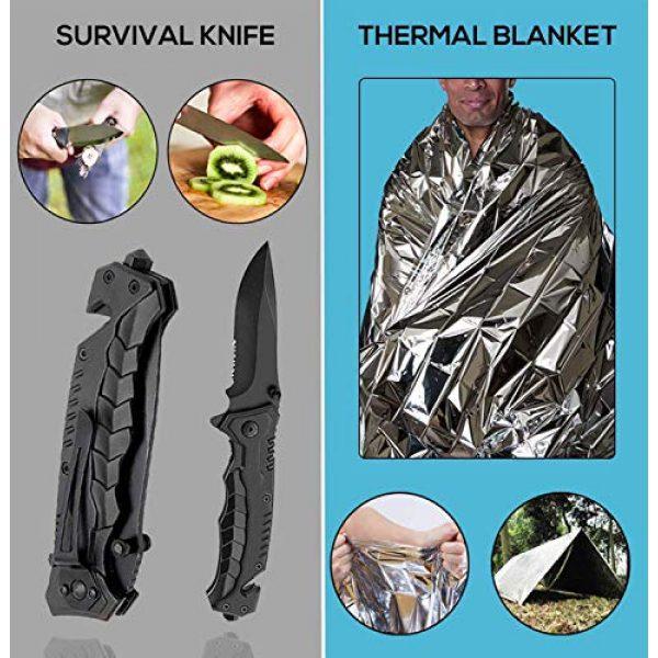 LIT FITNESS Survival Kit 4 LIT FITNESS Survival Kits 12-in-1 Emergency Survival Kit, Including Rock Climbing Gear, Emergency Blankets, Survival Bracelet, Tactical Pen, Tactical Flashlight, Gift Sets for Men