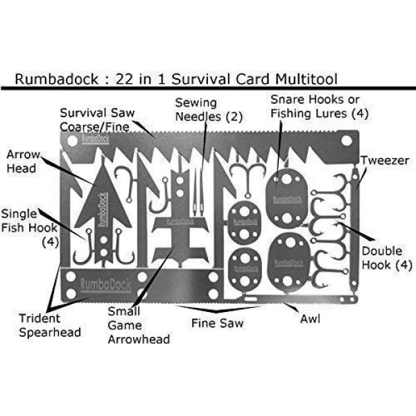 RumbaDock Survival Tool 3 Survival MultiTool Card Sized:Bug Out Bag CampingTool: Best Multitool for Camping and Wilderness Survival Preppers Gear; Fishing Camping Hiking Hunting Emergency Kit;
