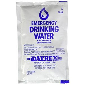 Datrex Water Filter 1 DATREX Emergency Water Pouch for Disaster or Survival, 125 ml Each