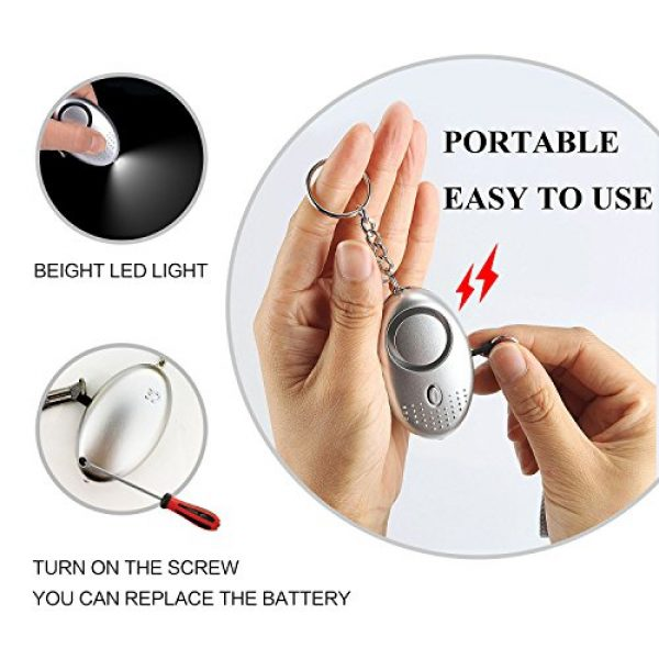 FansArriche Survival Alarm 2 FansArriche 3 PACK SafeSound Personal Alarm Keychain Self Defense Protection Devices 140 DB for Women/Kids/Girls/Elderly