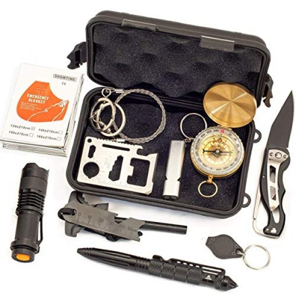 Just Guarded Survival Kit 1 Emergency Survival Kit - Outdoor Survival Gear Tool - Tactical Kit