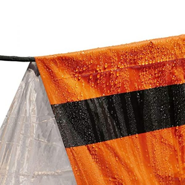 Go Time Gear Survival Kit 3 Go Time Gear Life Tent Emergency Survival Shelter - 2 Person Emergency Tent - Use As Survival Tent, Emergency Shelter, Tube Tent, Survival Tarp - Includes Survival Whistle & Paracord