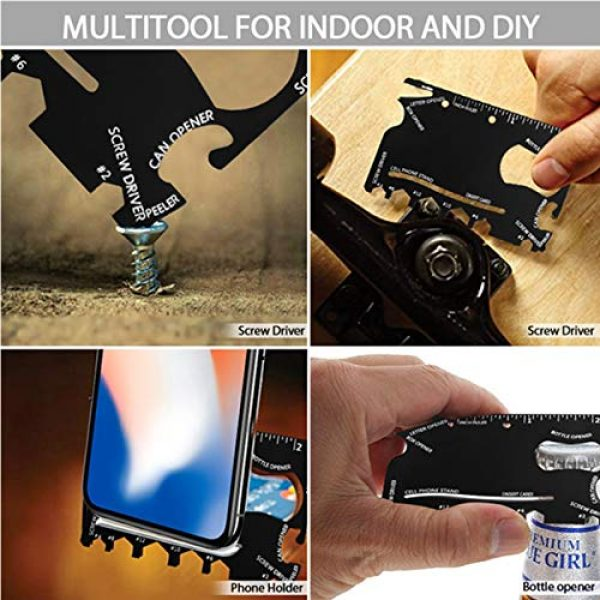 QuntionSt Survival Tool 7 Gifts for Dad Men Teens Fathers Day,Multitool Camping Gear Kits, 16 in 1 Survival Gear With 18 in 1 Multi Tool Card, Multipurpose Emergency Hatchet, Survival Kits for Outdoor Travel Hiking Household