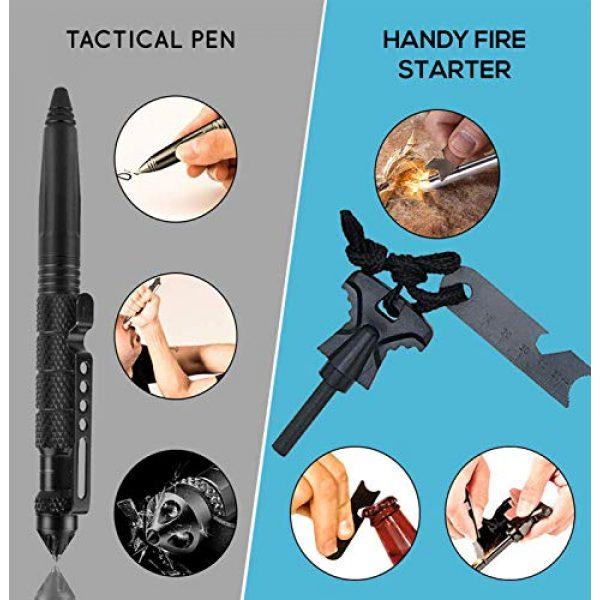 LIT FITNESS Survival Kit 2 LIT FITNESS Survival Kits 12-in-1 Emergency Survival Kit, Including Rock Climbing Gear, Emergency Blankets, Survival Bracelet, Tactical Pen, Tactical Flashlight, Gift Sets for Men