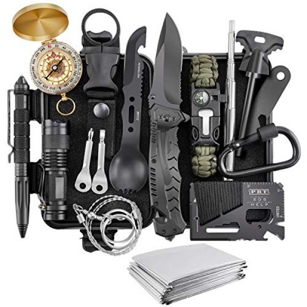 Verifygear Survival Kit 1 Verifygear Survival Kit, 17 in 1 Professional Survival Gear Tool Emergency Tactical First Aid Equipment Supplies Kits for Men Women Families Hiking Camping Adventures