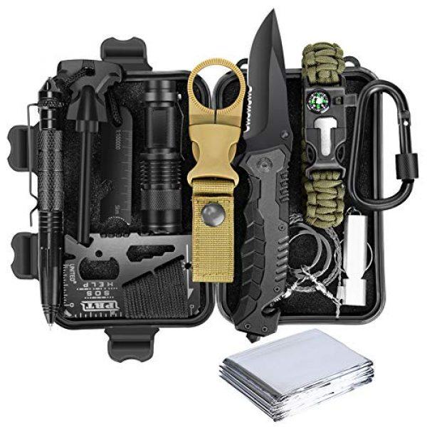 Lanqi Survival Kit 1 Lanqi Gifts for Men, Emergency Survival kit 14 in 1, Survival Gear, Tactical Survival Tool for Cars, Camping, Hiking, Hunting, Fishing (Survival kit 2)