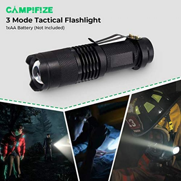 Campifize Survival Kit 4 Campifize Survival Tool Kit for Emergencies 13 in 1 Gear for Camping, Hiking, Climbing, Car - Birthday Gift - Present for Boyfriend - Husband or Wife - Mom or Dad - Father's Day
