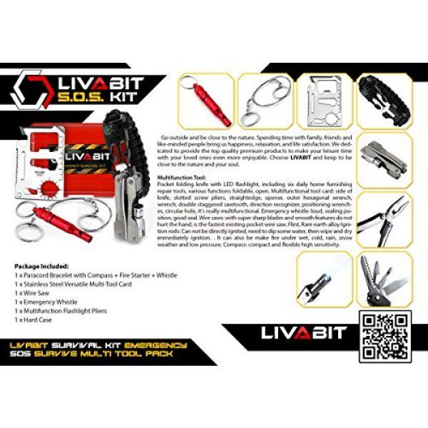 LIVABIT Survival Kit 7 LIVABIT Dual Pack First Response Safety Tool Emergency Kit Venom Sting Extractor Pump & SOS Survival Multi Tool Pack