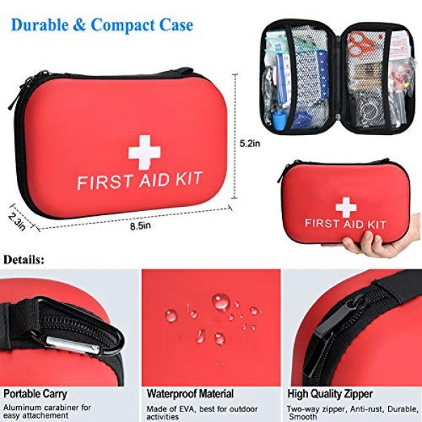 XUANLAN Survival Kit 2 XUANLAN Emergency Survival Kit 13 in 1, Outdoor Survival Gear Tool with Survival Bracelet, Fire Starter, Whistle, Wood Cutter, Water Bottle Clip, Tactical Pen (Survival Kit 5)