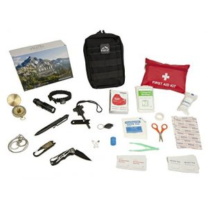 NWGear Survival Kit 1 NWGear 75 in 1 Emergency Survival Kit with First Aid Kit for Car | Emergency Blanket & Flashlight | Rugged Water-Resistant Molle Pouch | and More Survival Gear