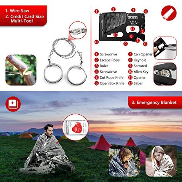 Limechoes Survival Kit 6 Limechoes Survival Kit,15 in 1 Emergency Survival Kit and Equipment Tools, Professional Survival Gear for Camping, Hiking. Adventure Outdoors Sport. Creative &Cool Birthday Gifts for Men.