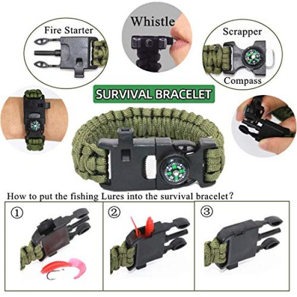 HMMS Survival Kit 5 HMMS Emergency Survival Kit 13 in 1, Mini Survival Equipment Kit Outdoor Survival Tools | Outdoor Hiking Fishing Hunting Backpack | For Adventure Outdoor Camping Sports Travel Hiking