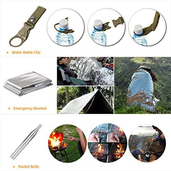 Welltop Survival Kit 4 Welltop 12 in 1 Outdoor Survival Kits Fishing Hunting Gear Hiking Camping Equipment Outdoor Adventure Gifts Ideas EDC Emergency Tools Cool & Unique Gadgets Gifts for Men Dad Husband Boyfriend
