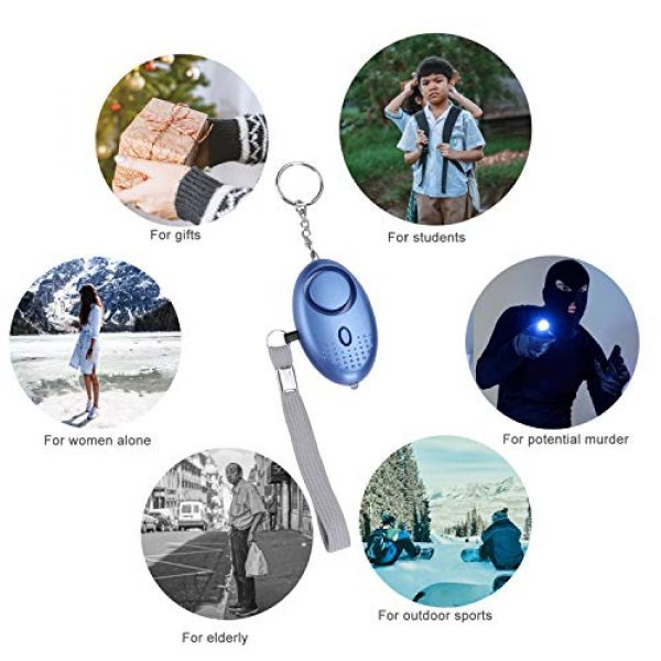 MaStrap Survival Alarm 7 MaStrap 140db Personal Safe Sound Alarms Emergency Safety Security Alarm Keychain for Women Child Elder 5 Pack