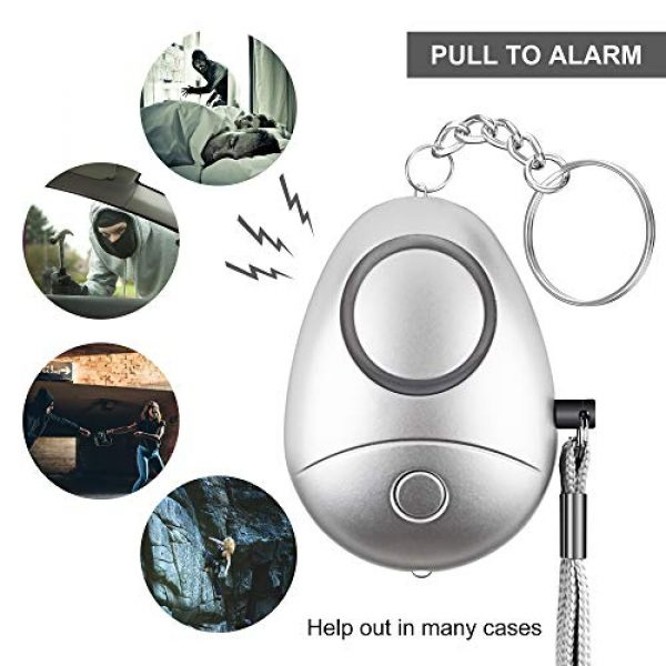Hacoon Survival Alarm 4 Personal Alarm, Safe Sound Security Personal Alarm for Women,Kids, Elderly, Emergency Safe Personal Alarm with LED Flashlight, Keychain,Personal Alarms-safey and Self Defense Alarm 130DB Siren Song