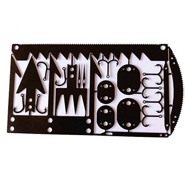 Bear Claw Trading Company Survival Tool 1 22 in 1 Credit Card Survival Tool/Multitool - Great for Survival Kit/Gear, Camping Gear, Hiking, Fishing Gear, Survival Emergency Kit or Zombies