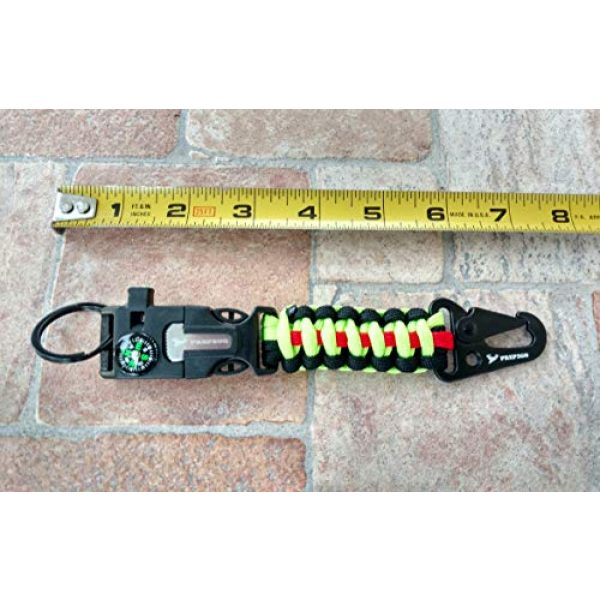 PREP2GO Survival Keychain 6 PREP2GO Paracord Survival Keychain-Compass Whistle Firestarter Kit-Cool Gadget Gifts for Husband Dad Men Him or Her-Camping Hiking Hunting-Mom,Teen Girl Boy Scout Can Get Fire & Shelter in Emergency!