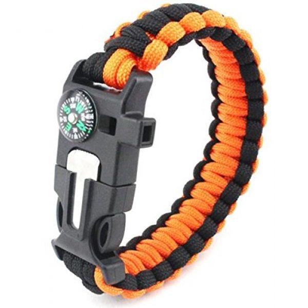 Q4Home Survival Bracelet 3 Q4Home Paracord Survival Bracelet; 5 in 1 Survival Bracelets Kit. Paracord, Fire-Starter Flint, Whistle, Compass, Multi Tactical Tool.