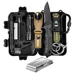 TRSCIND Survival Kit 1 Gifts for Dad Men Him Husband Fathers Day, Survival Gear and Equipment, Survival Kit 11-in-1, Birthday Gifts for Men Boyfriend Teen Boy, Fun Gadget, Men Gifts Ideas, Official EDC Survival Kit