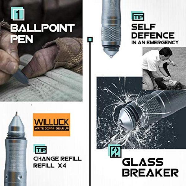 WILLUCK Survival Kit 3 Gifts for Dad Men Husband,Tactical Pen (8-in-1),Cool Anniversary Birthday Gifts for Boyfriend Him,Gift Box
