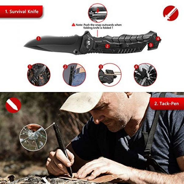 Limechoes Survival Kit 3 Limechoes Survival Kit,15 in 1 Emergency Survival Kit and Equipment Tools, Professional Survival Gear for Camping, Hiking. Adventure Outdoors Sport. Creative &Cool Birthday Gifts for Men.