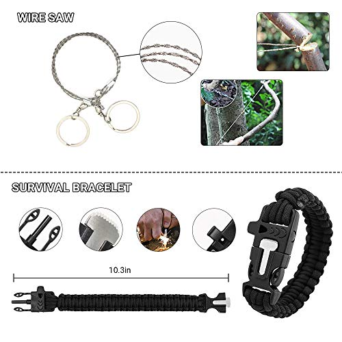 DONGKER  2 DONGKER Survival First Aid Kit Emergency Survival Kit Upgraded 2-1 First Aid Supply Compatible Outdoor Survival Gear Tactical Gear Molle Trauma Bag for Camping Hunting Hiking Home Outdoor