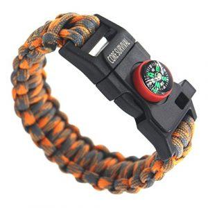 Core Survival  1 Core Survival Paracord Survival Bracelet - Hiking Multi Tool