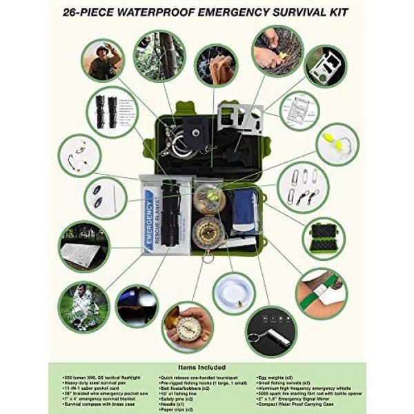 Gearrific Survival Kit 3 Gearrific 26-Piece Watertight Survival Kit, Compact Car Emergency Set
