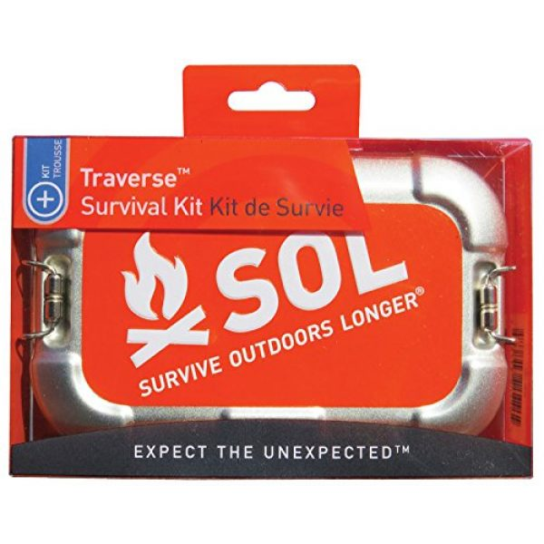 S.O.L. Survive Outdoors Longer Survival Kit 2 S.O.L. Survive Outdoors Longer S.O.L. Traverse Tin Survival Kit
