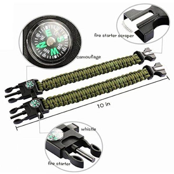 Kissmi Survival Bracelet 2 Kissmi 10 Pack Paracord Bracelet Survival Gear with Compass, Fire Starter, Whistle And Emergency Knife,Best Wildness Survival -Kit for Camping/Hiking