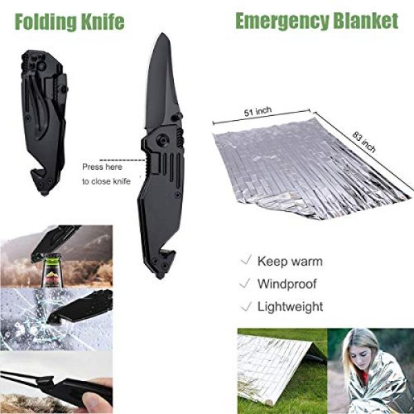 Revelook Survival Kit 6 Revelook Emergency Survival Multitool - First Aid Kit Boy Scout Camp Tool EDC Pocket Camping Gear Car Hunting Accessories Gifts for Men Father Son Husband Christmas Day Birthday Present