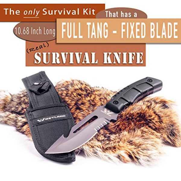 WEYLAND Survival Kit 3 WEYLAND Emergency Survival Kit - Outdoor Survival Gear, Full Size Tactical Bushcraft Knife and Essential Camping and Hiking Tools for Any Outdoorsman